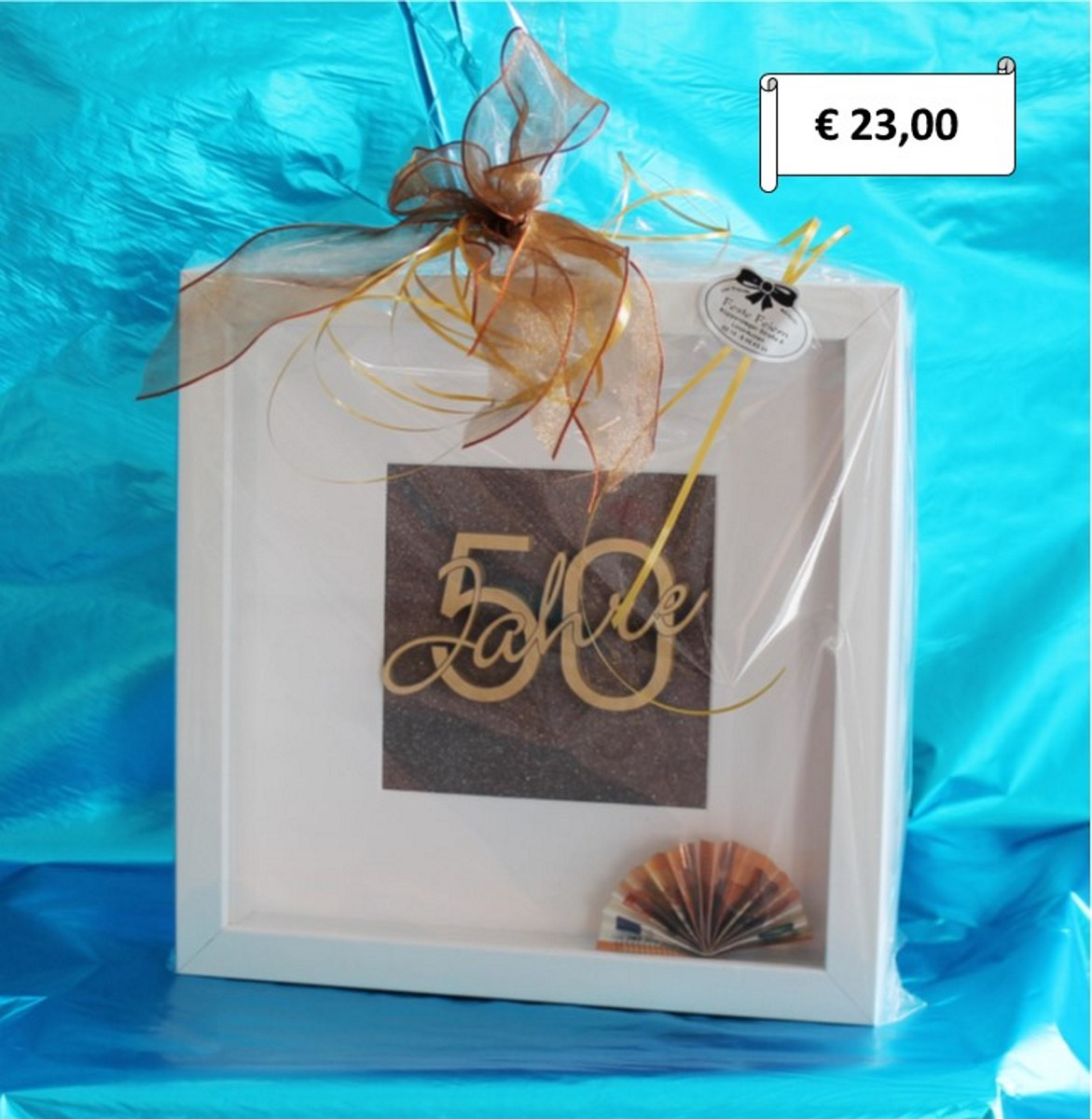 Geschenkverpackung zum 50.Geburtstag