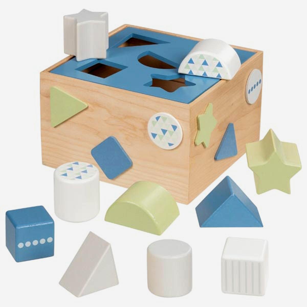 Lernspielzeug farbige Bauklötze