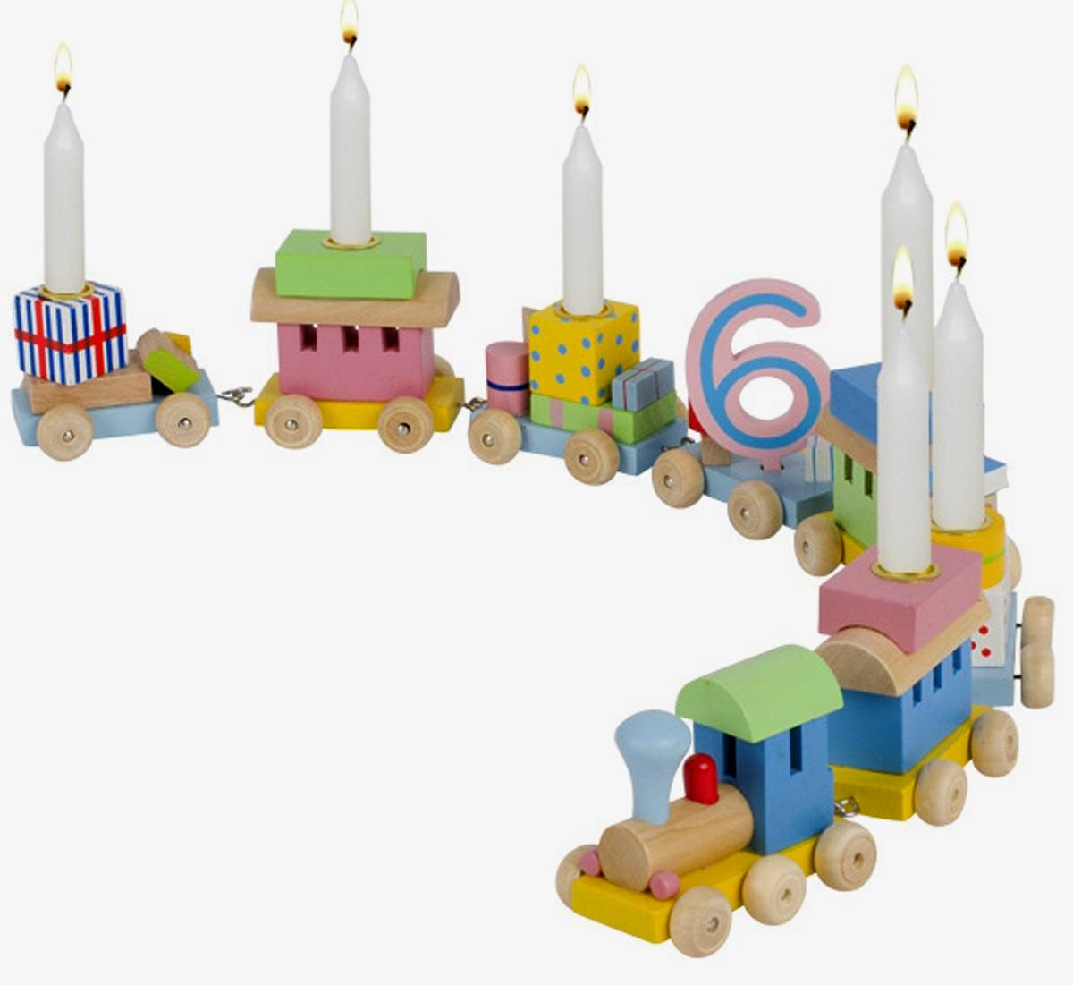 Geburtstagszug farbig mehrteilig